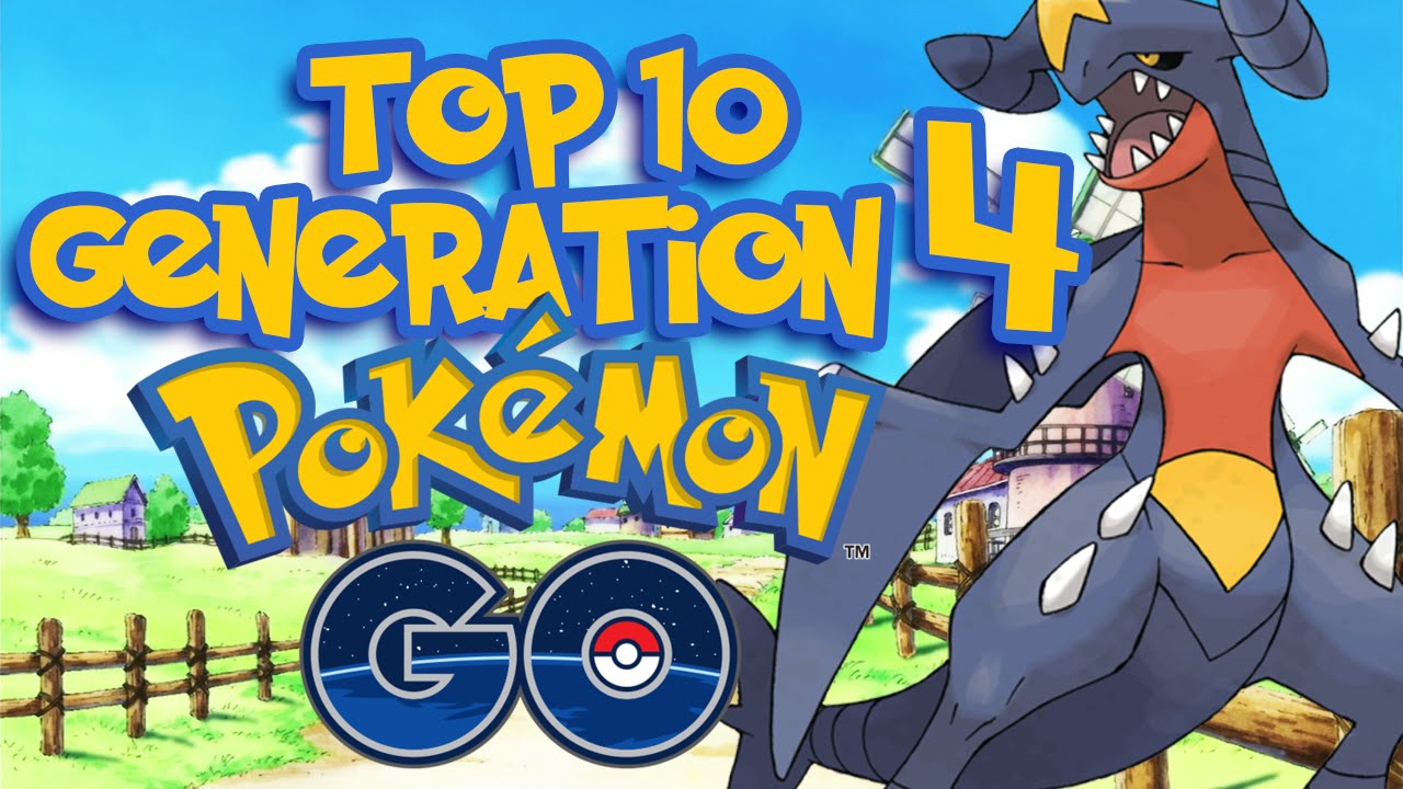 Pokemon Go! Top 10 Strongest Generation 4 Pokemon (Pokemon Diamond / Pearl  / Platinum)