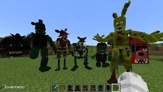 FNaF 3 Addon Para Minecraft Pe y Bedrock (Actualizado!) Animatronicos, Items Y Mas! [Dany Fox]