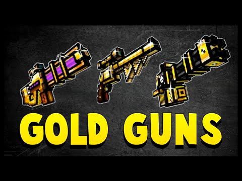 Pixel Gun 3D - Gold Guns Review!