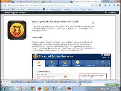 como instalar e ativar o advanced system protector 2014