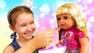 Смешные видео для детей - Чем накормить Беби Бон? - Лучшие игры для девочек в шоу Мы Принцессы