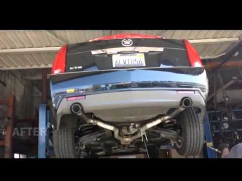 Muffler Delete 2010 Cts V6 3 0l Before And After Youtube
