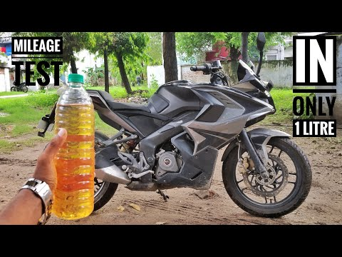 Pulsar RS 200 mileage Test (1 litre petrol)