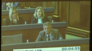 Do të qëndroj në Parlament derisa Thaçi e Veseli të jenë prapa grilave - 10.05.2017 - Klan Kosova