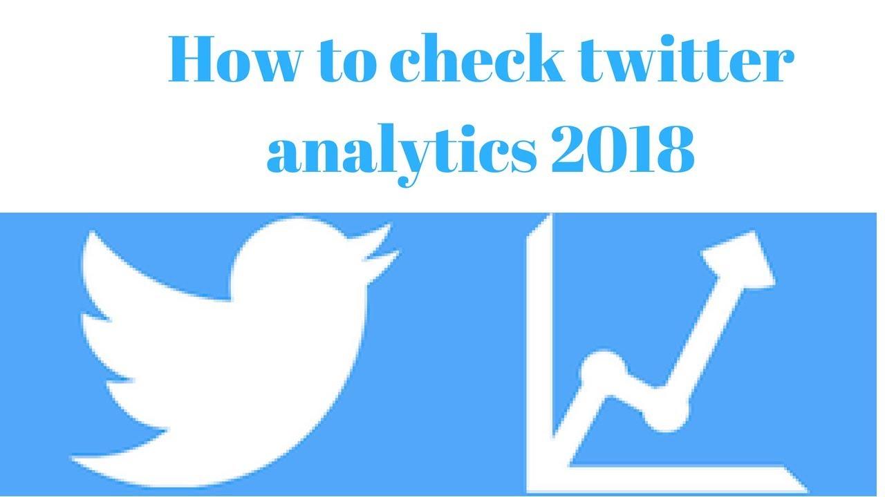 How to check twitter analytics