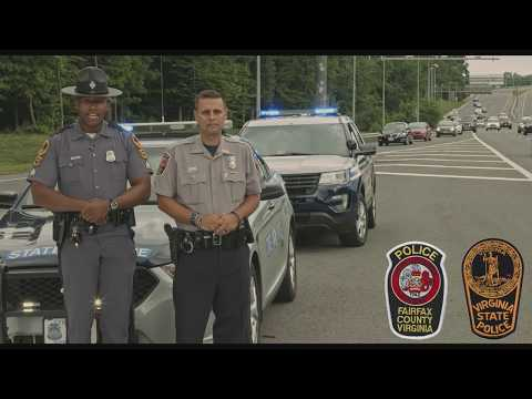 "VSP & Fairfax County Police Remind Motorists to ""Move Over"""