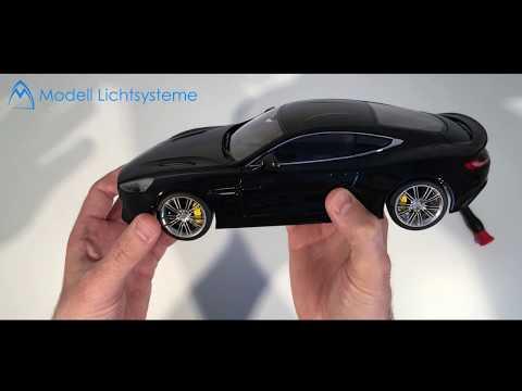 1/18 Diecast Unboxing Aston Martin Vanquish AUTOart disassembly