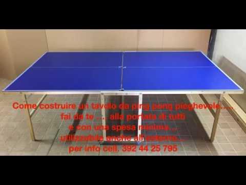 Come costruire un tavolo da ping pong pieghevole fai da te outdoor per info cell 3924425795 - Costruire tavolo ping pong pieghevole ...