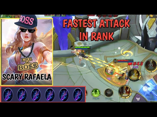 RAFAELA FASTEST ATTACK IN RANK | SCARY | THUG LIFE | MOBILE LEGENDS