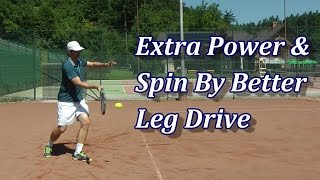 More Power & Spin By Better Leg Drive