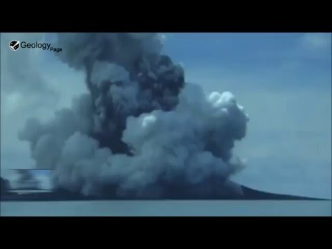 Underwater volcano erupts off Tonga 13 Jan, 2015