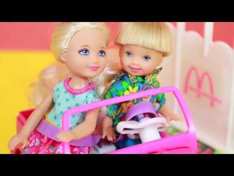 Barbie Chelsea drives Power Wheels Car Toy