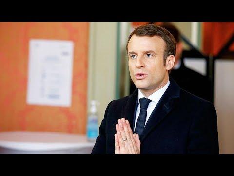 Fransa Cumhurbaşkanı Macron: Koronavirüse karşı savaştayız