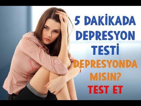 5 DAKİKADA DEPRESYON TESTİ -  DEPRESYONDA MISIN? TEST ET