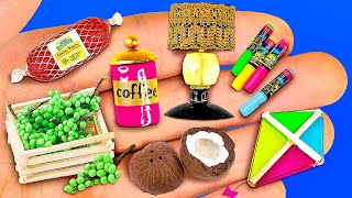 14 NEW DIY MINIATURE REALISTIC FOOD AND DRINKS FOR DOLLHOUSE BARBIE