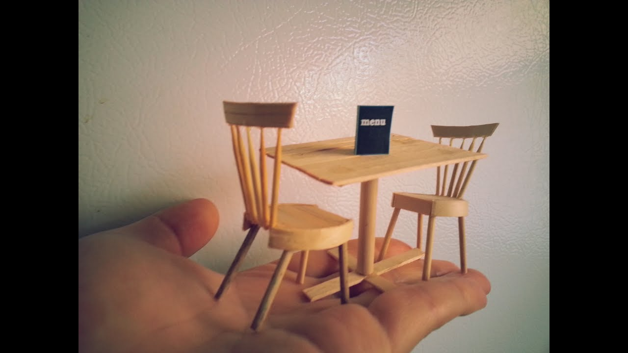DIY miniature dining table and chairs - YouTube