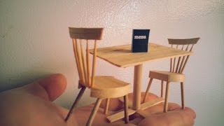 DIY miniature dining table and chairs