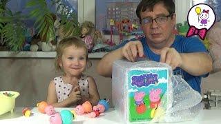 Саша и Свинка Пепа открывают посылки с игрушками. Посылки с игрушками для Пеппы из Китая Часть 2