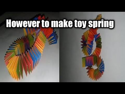 How to make toy spring by paper | paper | origami | anti stress toy | MAK art and craft.