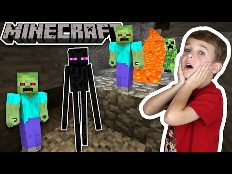 ENDERMAN AND HIS ARMY DESTROYED OUR DIAMOND CAVE in MINECRAFT SURVIVAL MODE