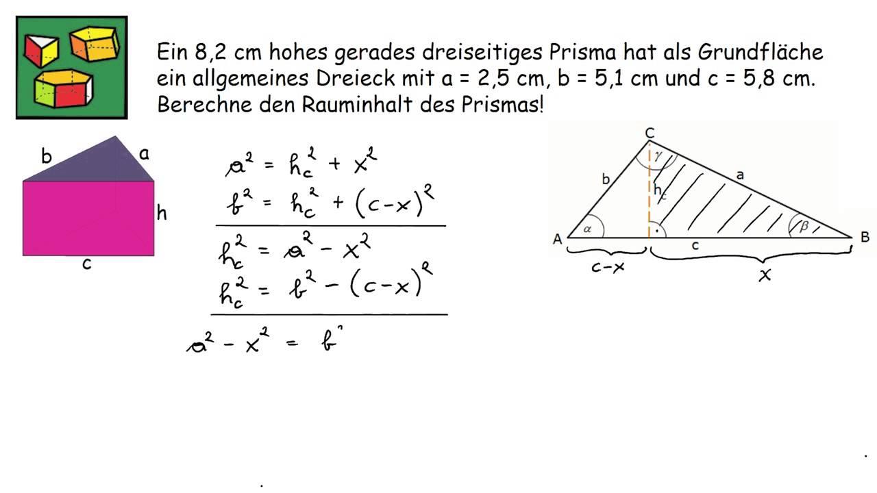 Großzügig Volumen Eines Prismas Arbeitsblatt Galerie - Mathe ...