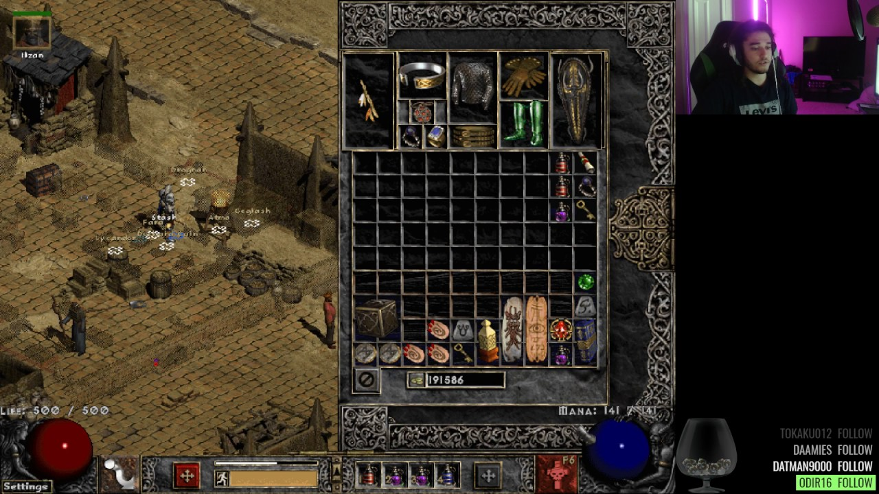 Path of Diablo (D2 Mod ) Day 1 Progress & Build Explanation. ( Fire Golem Necro ) - YouTube