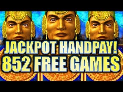 ★JACKPOT HANDPAY! 852 FREE GAMES!!★ 😍 MAYAN CHIEF MASSIVE BIG WIN! Slot Machine Bonus (KONAMI)