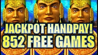 ★JACKPOT HANDPAY! 852 FREE GAMES!!★ 😍 MAYAN CHIEF MASSIVE BIG WIN! Slot Machine Bonus (KONAMI)