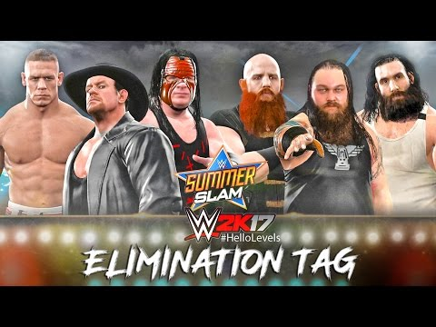 WWE 2K17 Undertaker Kane and John Cena vs Bray Wyatt Luke Harper and Erick Rowan - The Wyatt Family