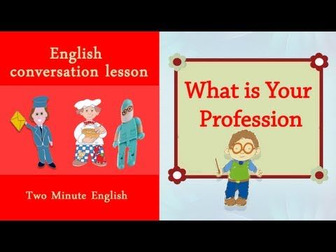 English Job Vocabulary - Professions in English. What is your Job? Occupations English Lesson