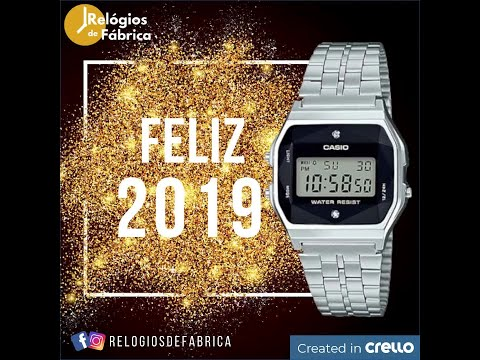 44828db7c62 RELÓGIO CASIO VINTAGE DIAMONDS PRATA UNISSEX A159WAD-1DF - Relógios de  Fábrica