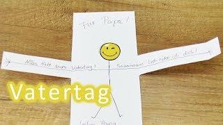 Vatertagsgeschenke LAST MINUTE IDEE | Süße Karte für Papa! Gutschein selber machen für den Vater Tag