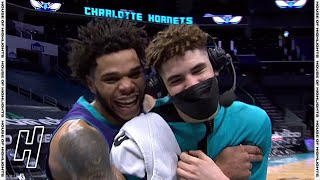 Miles Bridges Videobombs LaMelo Ball's Postgame Interview - Rockets vs Hornets | February 8, 2021