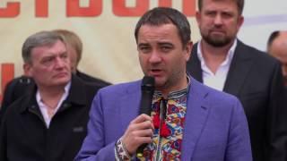 Виступ президента ФФУ Андрія Павелка в зоні АТО