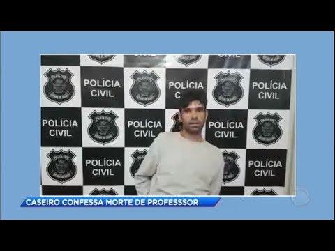 Polícia prende caseiro suspeito de matar professor