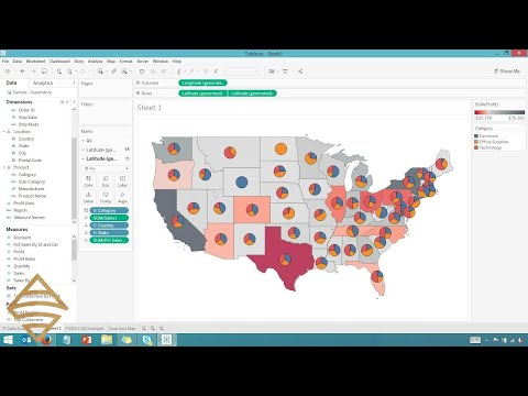 How to make interactive map in tableau