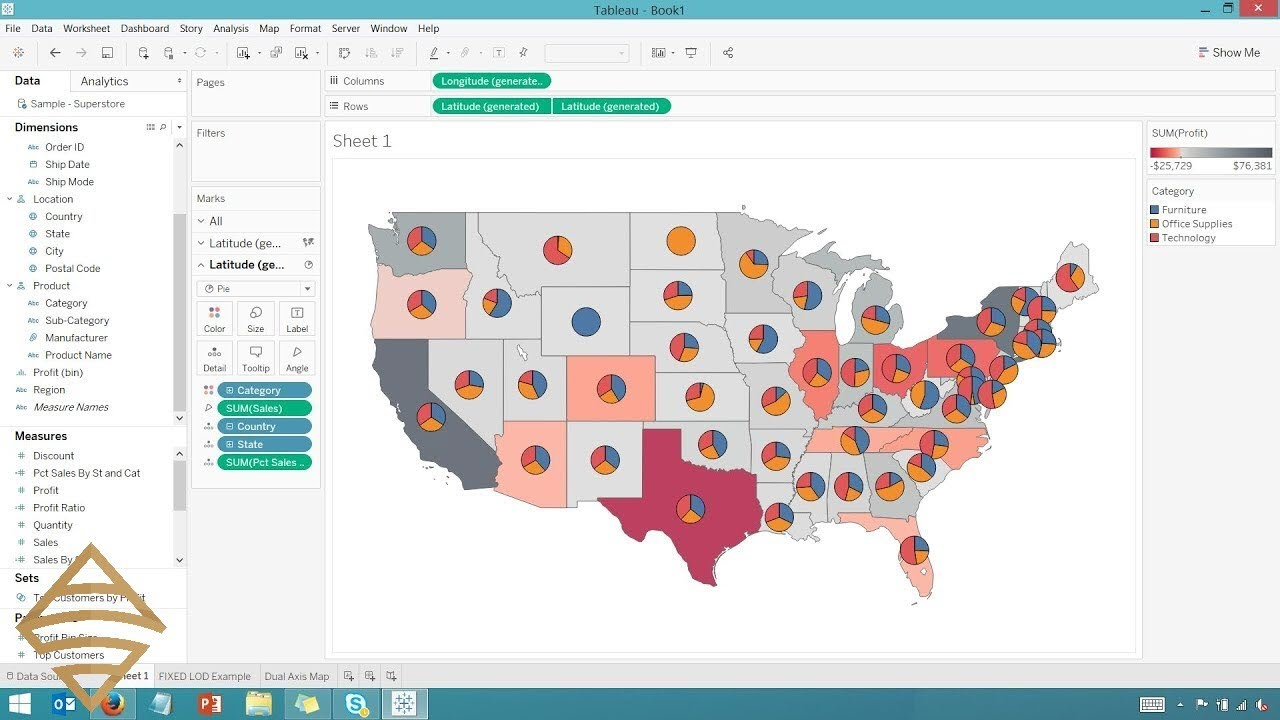 Create A Map with Multiple Layers in Tableau