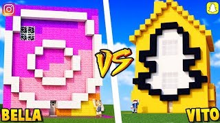 DOM INSTAGRAM VS DOM SNAPCHAT W MINECRAFT | Vito vs Bella