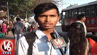 Lack Of Bus Shelters People Waiting On Roads | Hyderabad | V6 News
