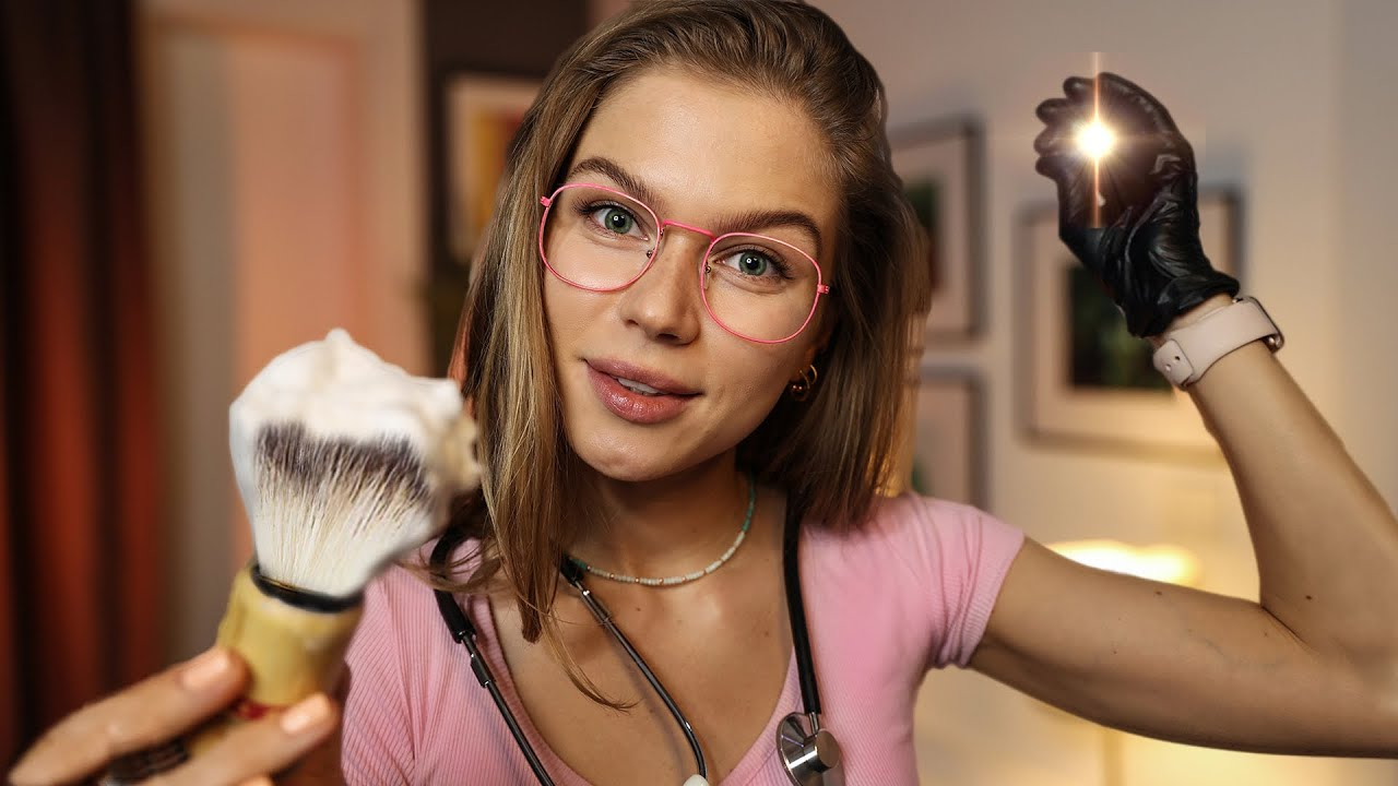 ASMR The Most Relaxing Haircut, Shaving, Face Exam, Face Massage RP, Personal Attention