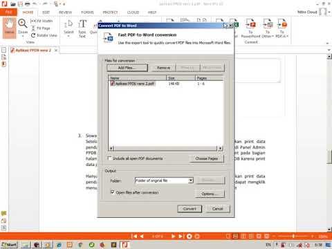 Konversi File Ms Word Ke Pdf Menggunakan Nitro Pro 10 Youtube