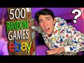 I Bought 500 RANDOM Games Off eBay & THIS is What I Got..