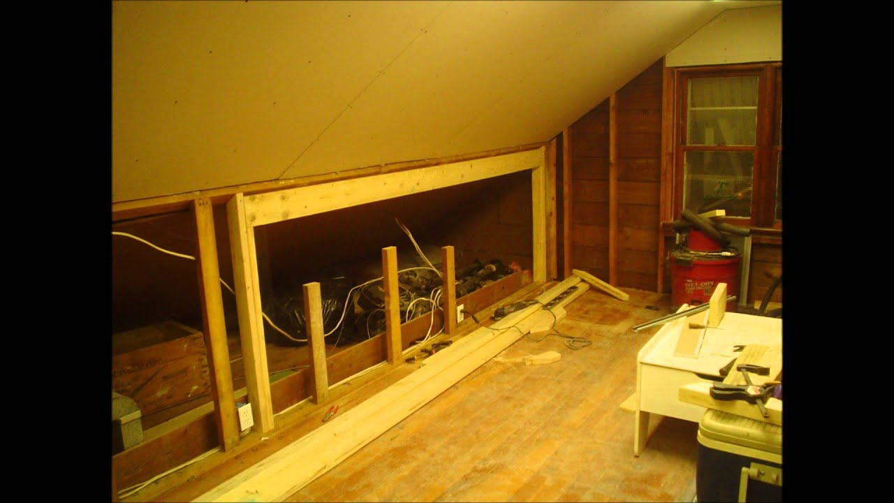 bedroom attic storage ideas - Modifying the knee wall to enlarge the opening for a