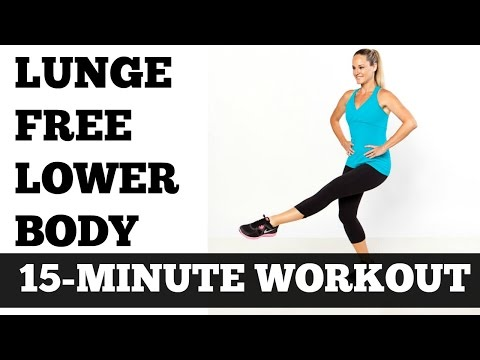 15 Minute Lunge Free Lower Body, Legs, Thigh, Butt, Hips Toning Sculpting Workout No Equipment