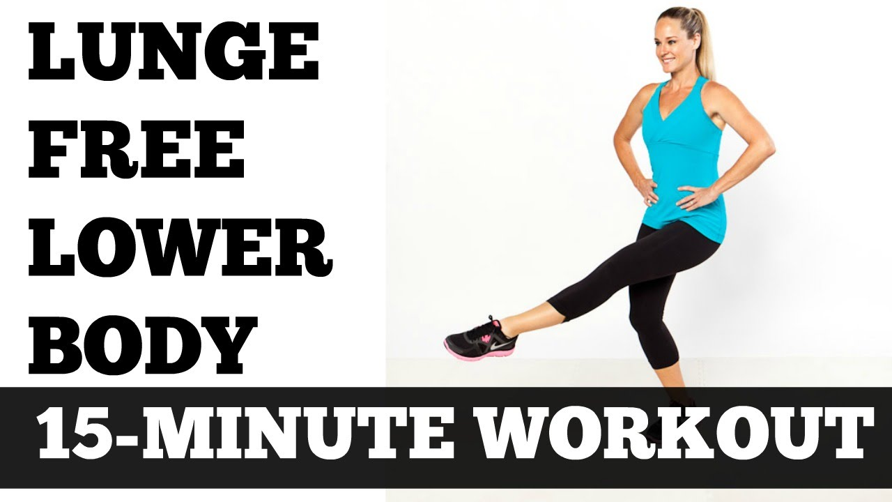 15 Minute Lunge Free Lower Body, Legs, Thigh, Butt, Hips Toning Sculpting  Workout - No Equipment - YouTube