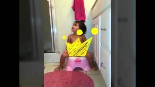 Allana's first potty