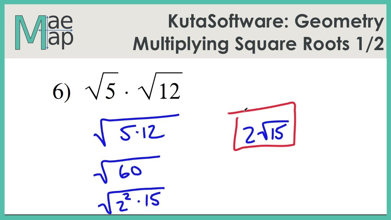 Kutasoftware Geometry Multiplying Square Roots Part 1 Youtube