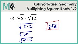 KutaSoftware: Geometry- Multiplying Sqขare Roots Part 1