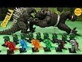 New 16 Godzilla Lego Action Figures Surprise Eggs King Kong Vs Godzilla Skull Island  Unboxing