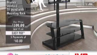 Brassex Stanford Black TV Stand With Mounting Rack at The Shopping Channel 677192